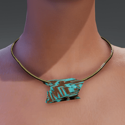 Turquoise Golden Necklace