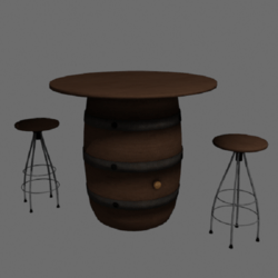 Barrel with Stool