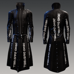 DEMO Long Leather Trenchcoat for males DEMO