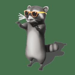 Raccoon (Orange Sunglasses) - Avatar