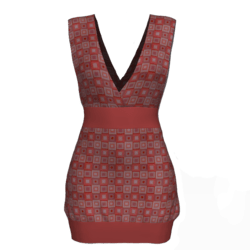 Tube Dress Deep Neck - Squares