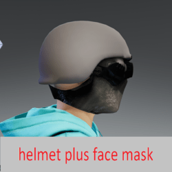 face mask plus helmet
