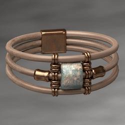 Wrapped Bracelet Copper Female