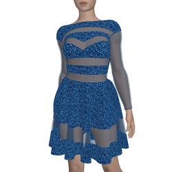 Sequin Dress Rosa Blue
