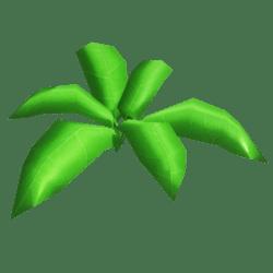 3D Low poly Plant