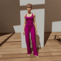 TKA-Jumpsuit pink cotton