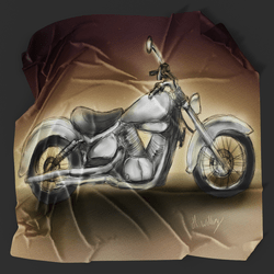 Motorbike Picnic Blanket