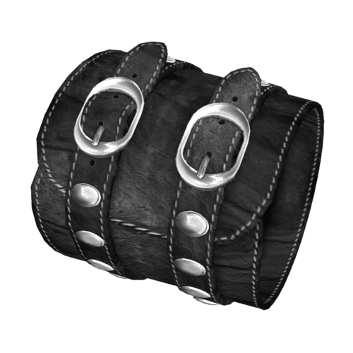 Black Leather Bracelet Female-Right