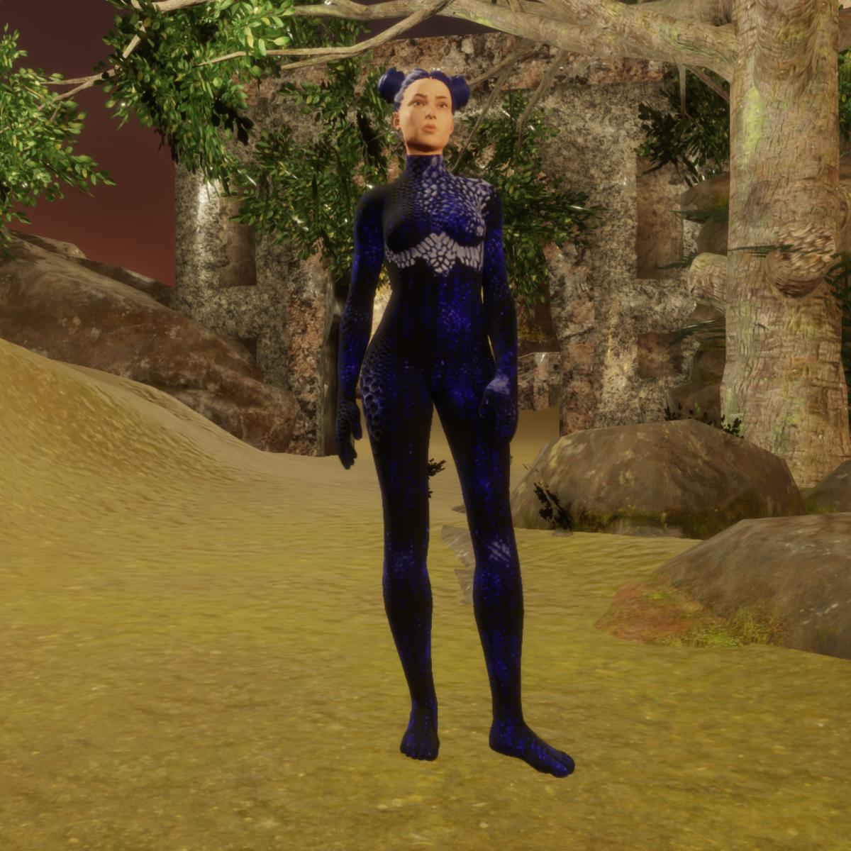 dragon skin blue animated
