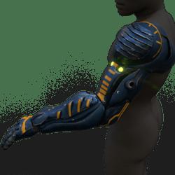 Cyborg arm (left,blue)