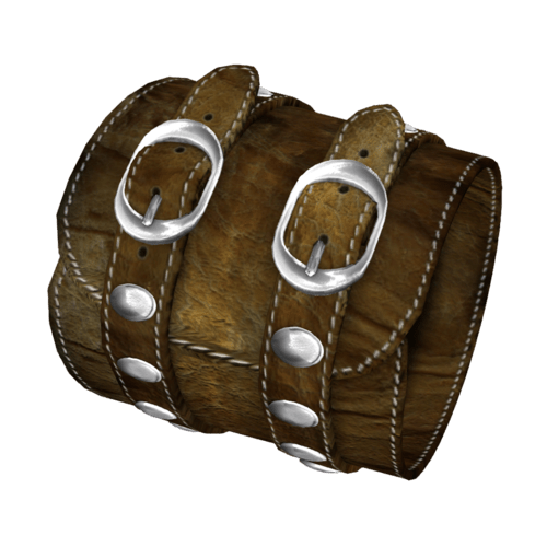 Brown Leather Bracelet Female-Right