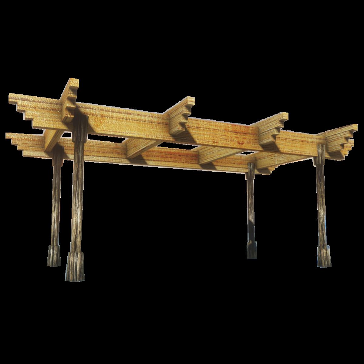 Wood Pergola Sansar-Collision Mesh