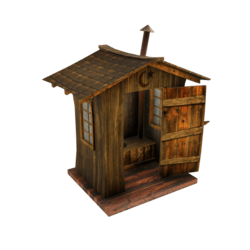 Western Style Outhouse