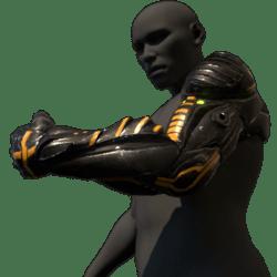 Cyborg arm (left,black)