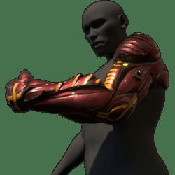 Cyborg arm (left,red)