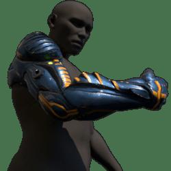 Cyborg arm (right,blue)