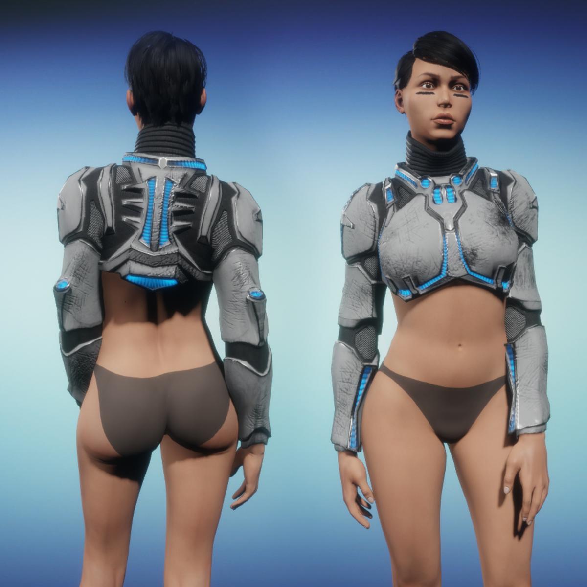 Sci-Fi Armor Top part 1/2 (white)