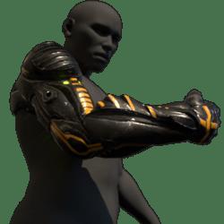 Cyborg arm (right,black)