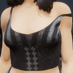 Goth Top ~ Stripy Dark