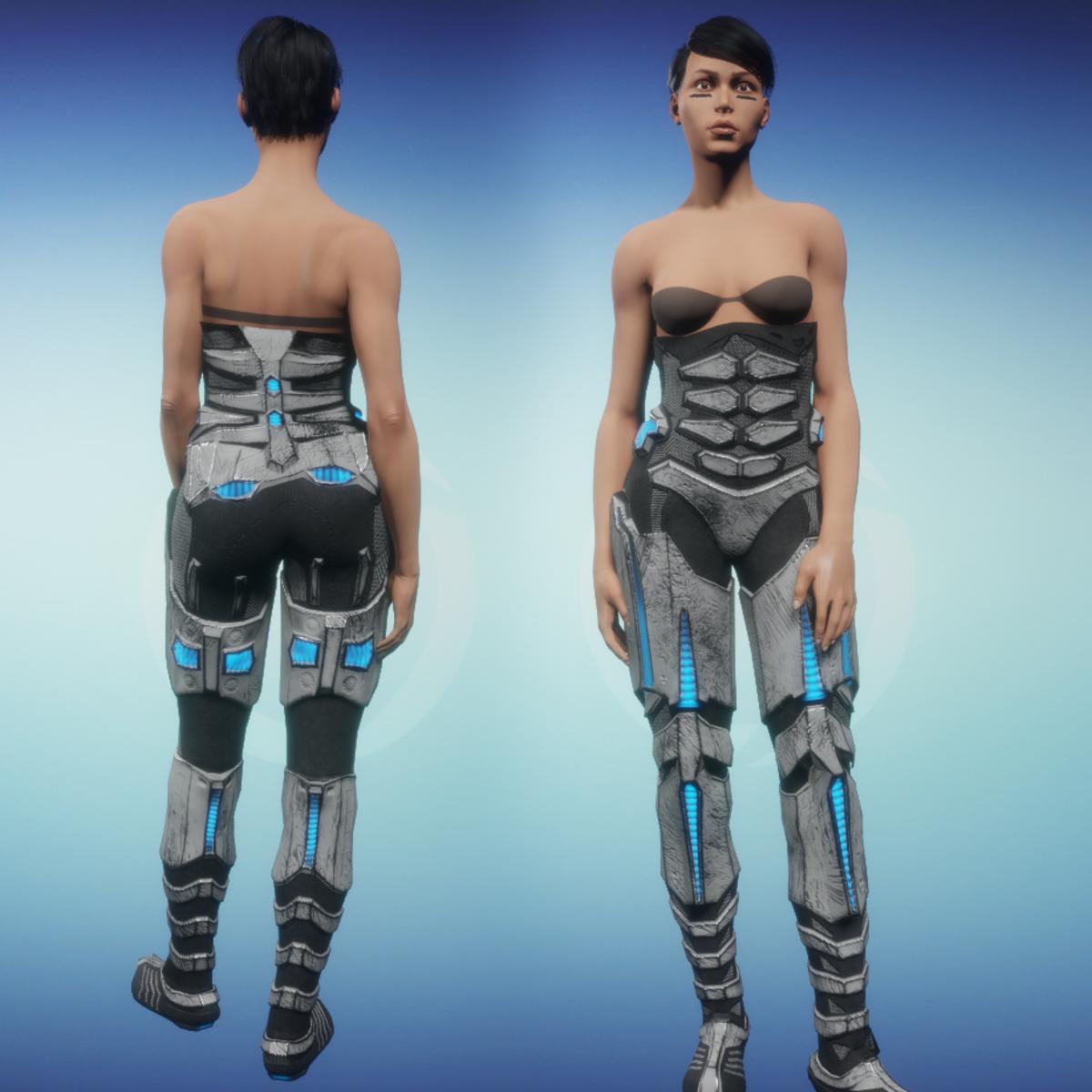 Sci-Fi Armor Bottom part 2/2 (white)